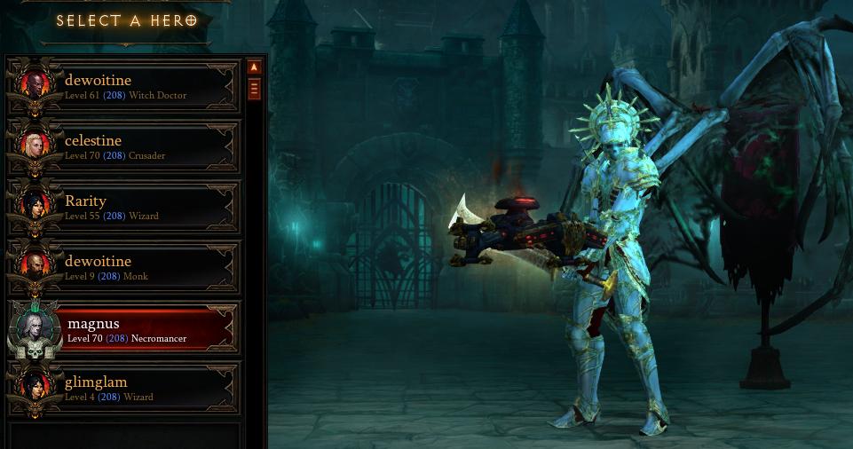 Diablo 3 PC EU-Diablo 3 ROS+RON (3 Heroes)Level 70,Paragon 208/