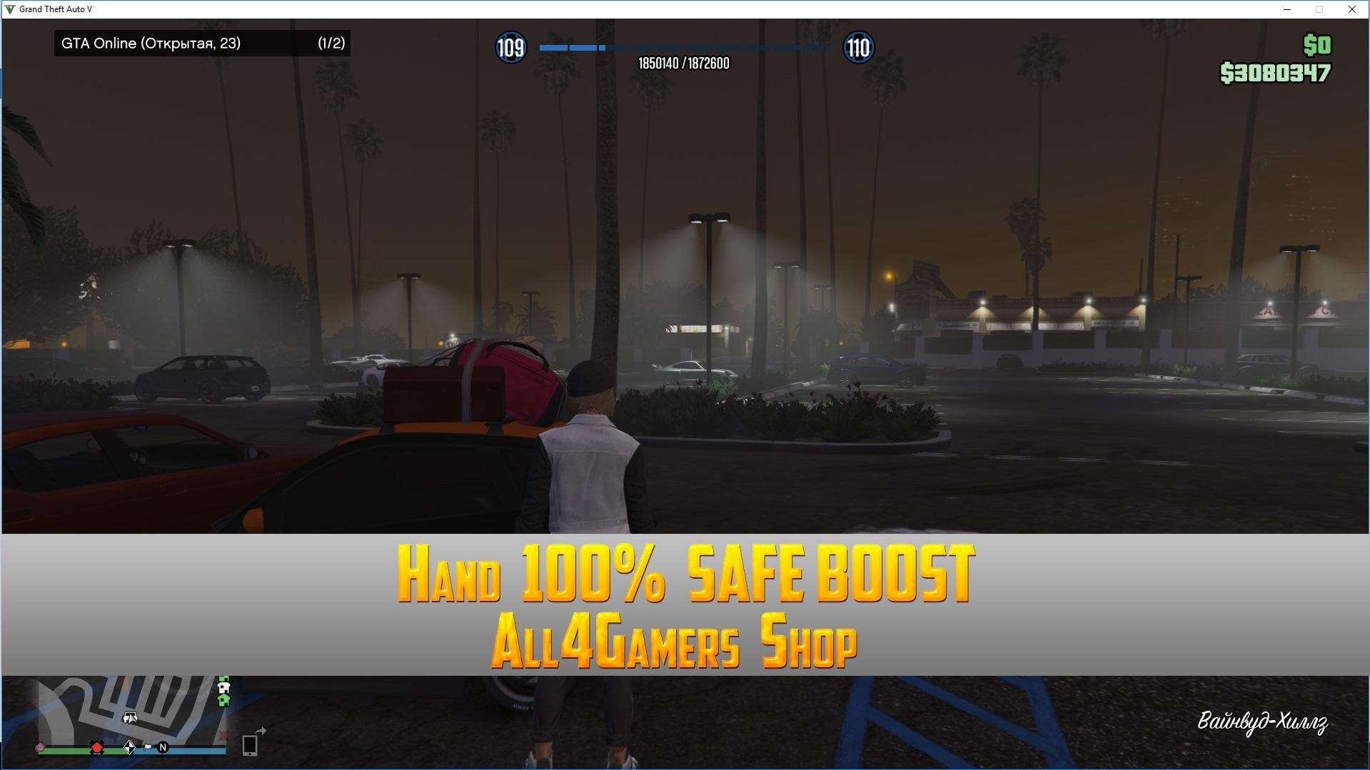 GTA V Online Rockstar-[PC] 109 LVL+3 080 000 money l Total