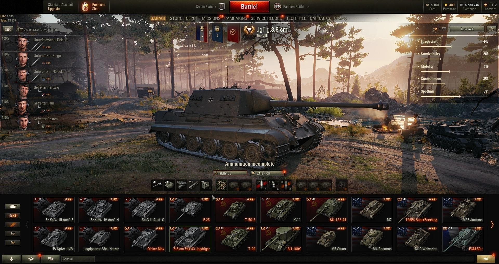 A 43 Wot world of tanks pc eu-prem. tank 8   (#777)