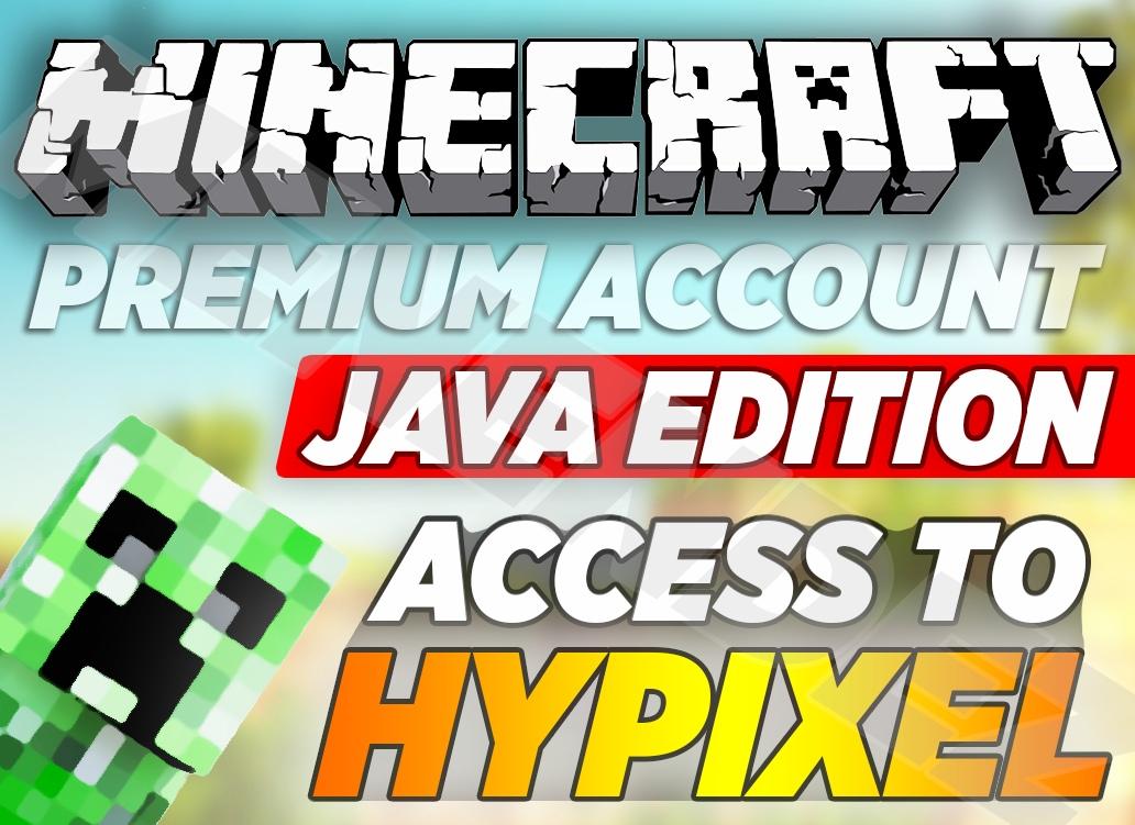 Minecraft Java Edition-Unused PREMIUM Java edition MC-100