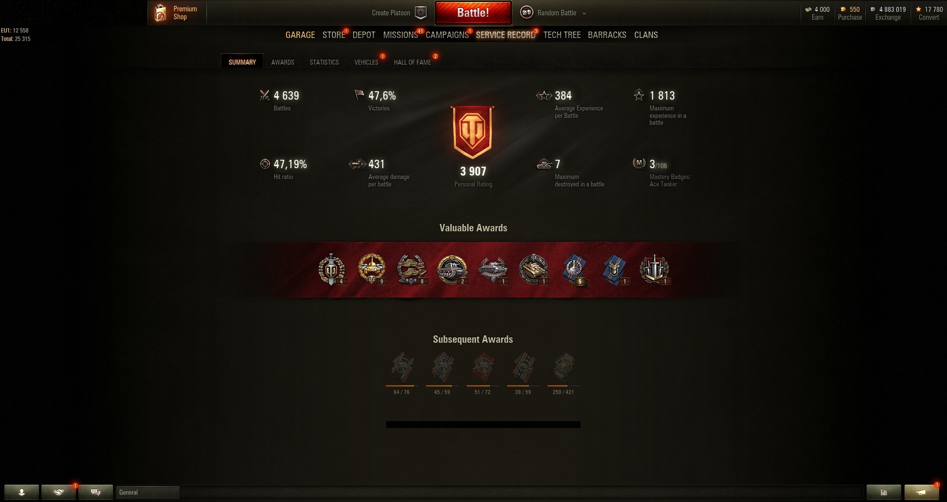 Buy and Sell WOT Account - World of Tanks Account for Sale