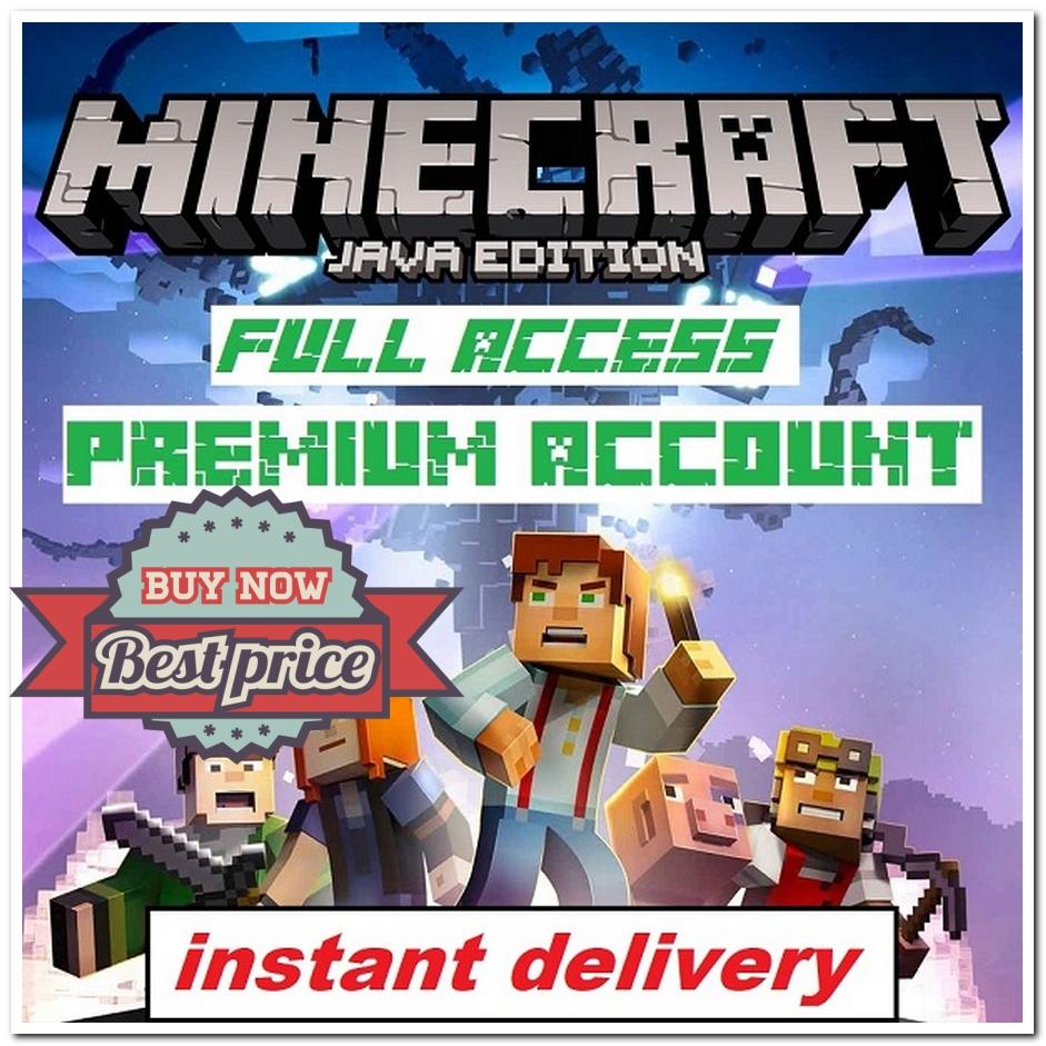 Minecraft Java Edition Minecraft Java Edition Premium Account 100 Full Access